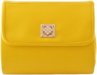 Diviano Women Yellow PU Sling Bag