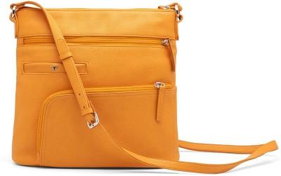 Bulchee Girls, Women Yellow Leatherette Sling Bag
