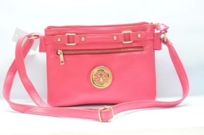HR OVERSEAS Girls Pink PU Sling Bag