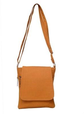 Roshiaaz Women, Boys, Girls Brown PU Sling Bag