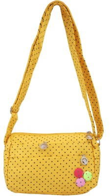 Super Drool Women, Girls Yellow PU Sling Bag