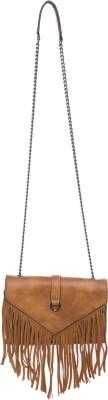 Elespry Women Brown PU Sling Bag