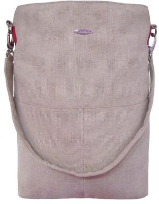 Jutecentral Men, Women Beige Juco Sling Bag