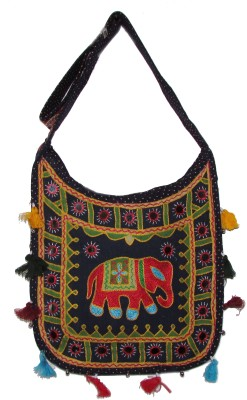 Adara Collections Women Multicolor Cotton Sling Bag