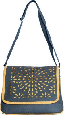 Kshipra Fashion Girls, Women Grey, Khaki Leatherette Sling Bag