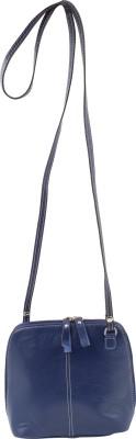 LeatherByte Women Blue Genuine Leather Sling Bag