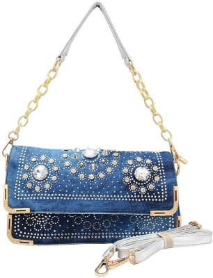 Shopaholic Fashion Women Blue PU Sling Bag