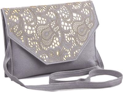 Voaka Women, Girls Grey Leatherette Sling Bag