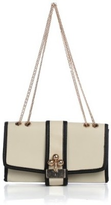 Cathriem Women Casual, Evening/Party White PU Sling Bag