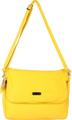 Spice Art Girls Casual Yellow Leatherette Sling Bag