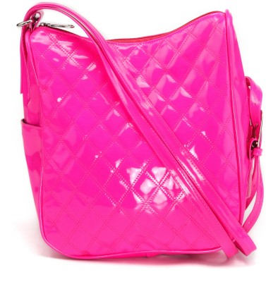 Stylocus Women Casual Pink Cotton Sling Bag