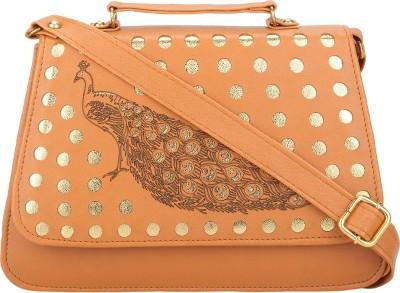 Red Rose Women Orange PU Sling Bag
