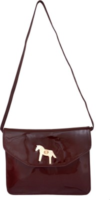 Cheery Women Brown PU Sling Bag
