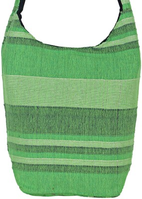 Jaipuri Haat Girls Green Cotton Sling Bag