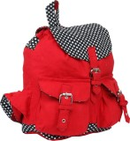 Pick Pocket Women Red Canvas Shoulder Ba...