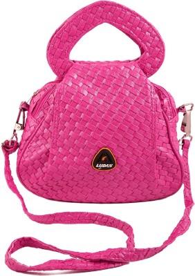 Chalissa Women, Girls Pink Rexine Sling Bag