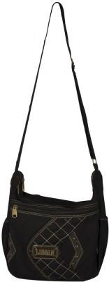 Ludan Men Black Canvas Sling Bag