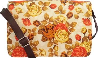 Toteteca Bag Works Women Orange Leatherette Sling Bag