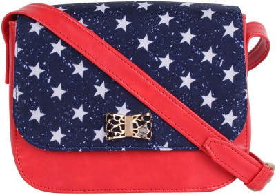 Berrypeckers Women Red PU Sling Bag