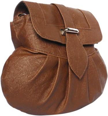 WEEBILL Girls Tan PU Sling Bag