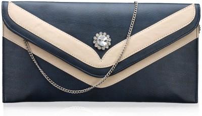 Contrast Girls Evening/Party Blue PU Sling Bag