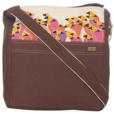 Kohl Girls Casual Brown Canvas Sling Bag