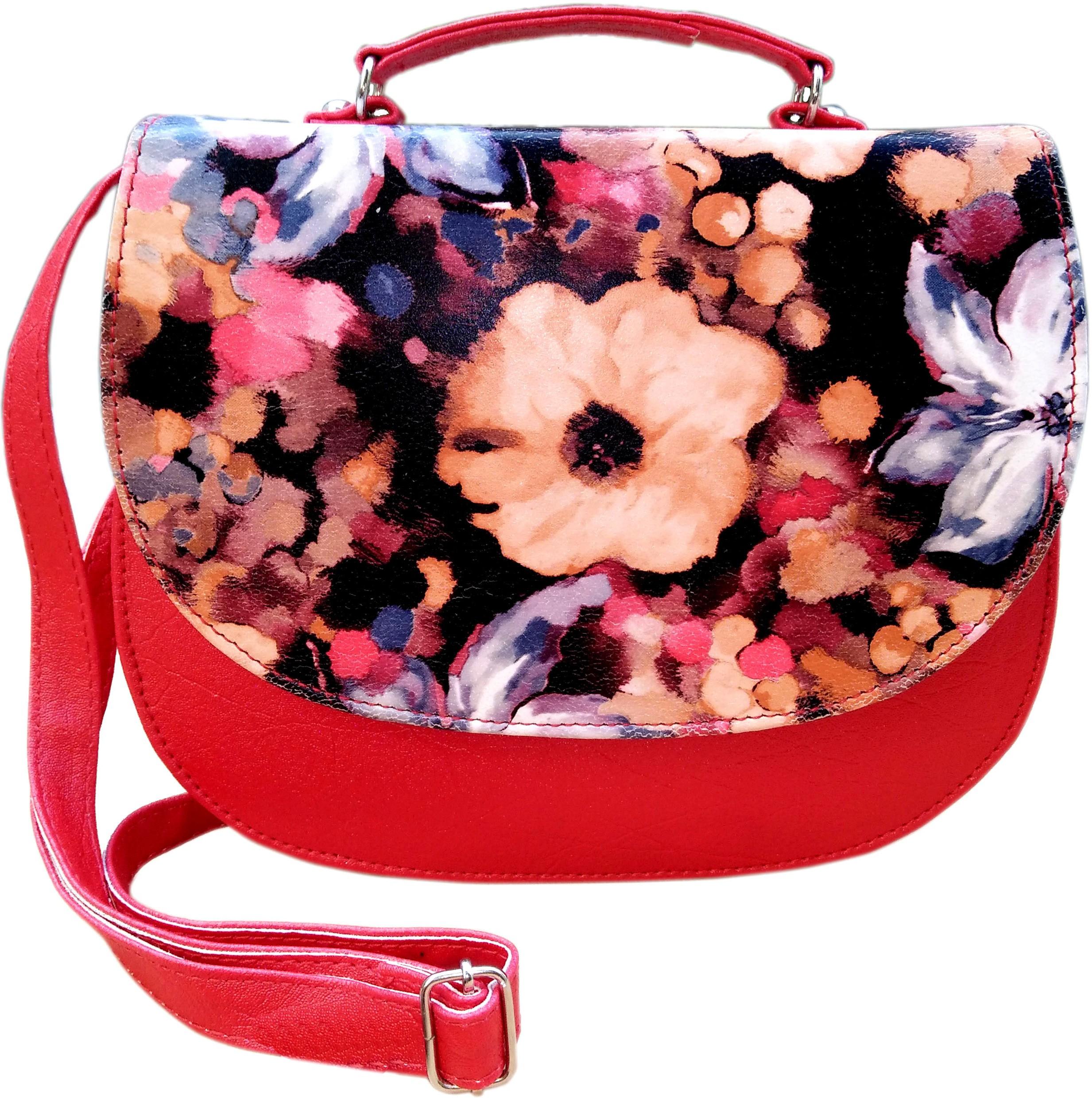 Sling bag below 500 - Madash Girls Multicolor Genuine Leather Sling Bag