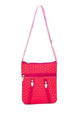 Glitters Girls Casual, Formal Pink Rexine Sling Bag