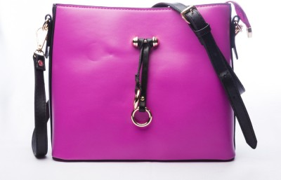 Legal Bribe Women Casual Pink PU Sling Bag