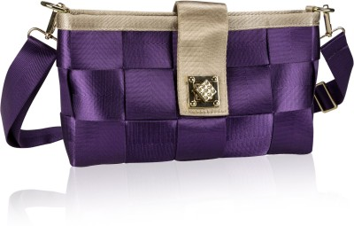 Neuste Girls, Women Casual, Evening/Party, Festive Purple Banana Fibre Sling Bag