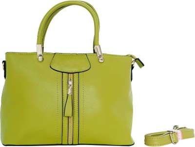 Parv Collections Women Green PU Tote