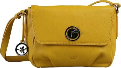 ILEX London Women Casual Yellow Genuine Leather Sling Bag