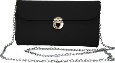 Hydes Girls, Women Black Leatherette Sling Bag