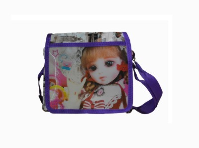 Vedic Deals Girls Purple Leatherette Sling Bag