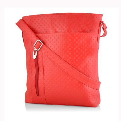 Rosemary Girls Casual Red Leatherette Sling Bag
