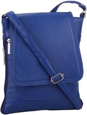 Red Rose Women Blue PU Sling Bag