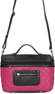 Indostyle Women Formal Pink Genuine Leather Sling Bag