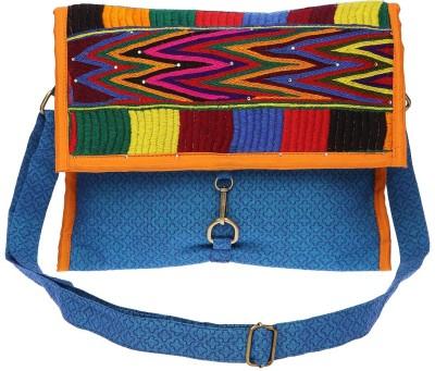 Pranil Designs Women Casual Multicolor Cotton Sling Bag