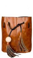 Joker & Witch Women Brown PU Sling Bag