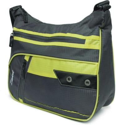 Zwart Men, Women Casual Grey, Yellow Polyester Sling Bag