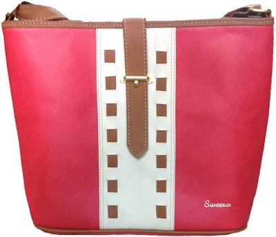 SWEERA Women Red PU Sling Bag