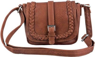 Lychee Bags Girls Casual Brown PU Sling Bag