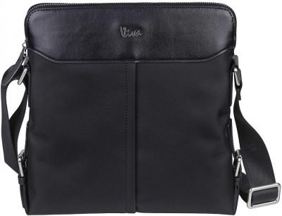 Viva-Global Men Formal Black Nylon, Silicon Sling Bag