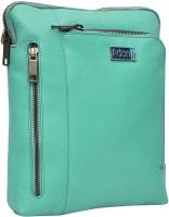Adone Men & Women Green Genuine Leather Sling Bag
