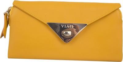 Viari Women Evening/Party Yellow Genuine Leather Sling Bag