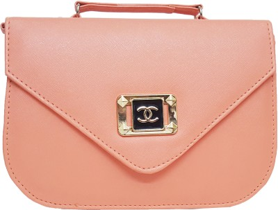 RaviCollections Girls, Women Pink Leatherette Sling Bag