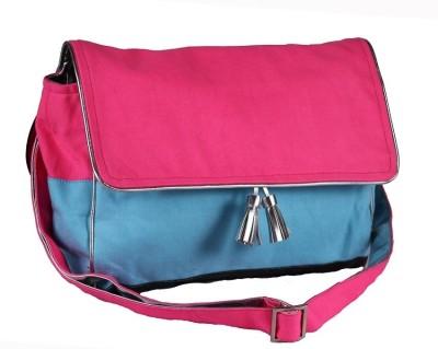 Harp Women Casual Pink Canvas Sling Bag