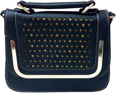 Lasslee Girls Casual Black PU Sling Bag
