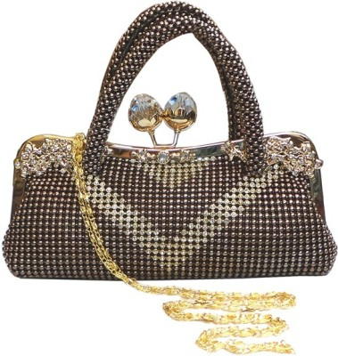 Bhamini Women Casual Gold Silk Sling Bag