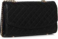 ToniQ Women Black PU Sling Bag